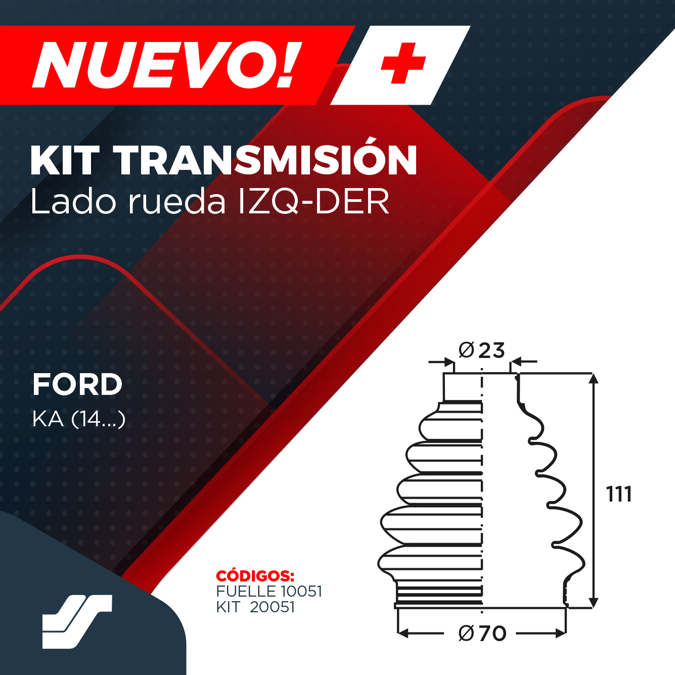 KIT TRANSMISIÓN FORD KA
